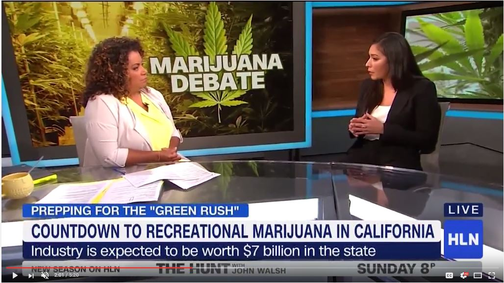 CNN-HLN's Michaela Pereira features Cali Premium Produce CEO to weigh in on marijuana debate